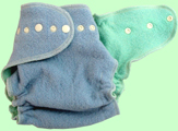 Large Baby Blue/Mint Wool Crepe Cover