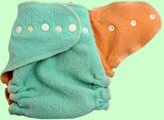 Medium Mint/Melon Wool Crepe Cover