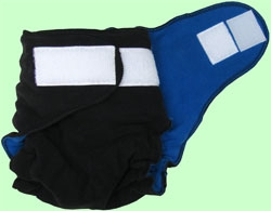 NB/SM Black/Royal Blue Fleece Cover With Aplix