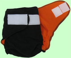 NB/SM Black/Orange Fleece Cover With Aplix
