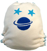 Medium Saturn Hand-painted Diaper