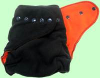 Medium Black/Orange Fleece Cover SECOND