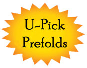 **Medium Organic Prefolds- U Pick 6**