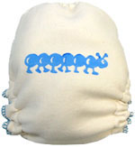 (CLONE) (CLONE) Medium Blue Caterpillar Hand-painted Diaper
