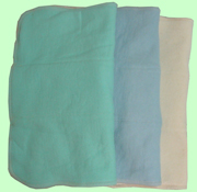 Medium Organic Prefolds- Baby Blue/Mint/Natural