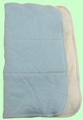 Medium Organic Prefold Sampler- Baby Blue