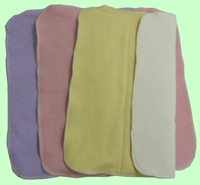Medium Organic Prefolds- Rose/Lavender/Lemon